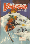 The Victor annual page, 1977 front cover. Artist Kennedy.