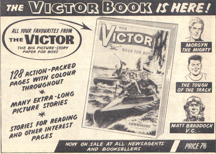 Advert for the 1965 Victor Annual. Artist unknown. &copy D.C. Thomson Co. Ltd