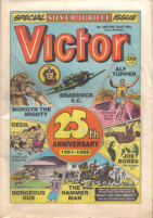 Front cover of the Silver Jubilee, The Victor, issue 1305.